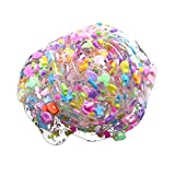 Livoty Beautiful Color Mixing Cloud Slime Clear Slime Cute Candy Fimo Kids Stress Relief Toys Christmas Gift (Multicolor)