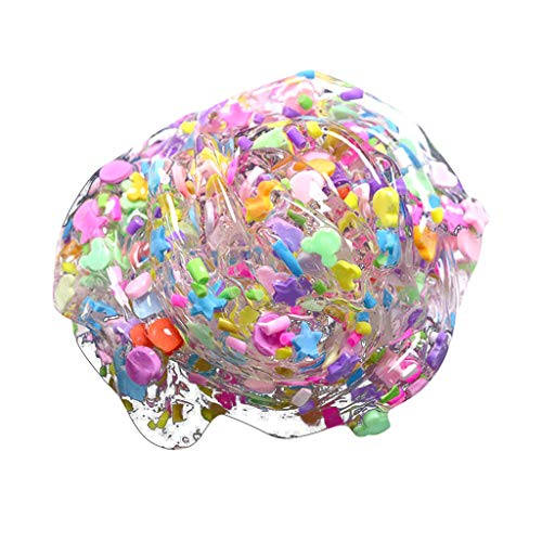 Theshy Non-Toxic Clear Slime Cute Candy Fimo Kids Relief Stress Toys Scented Stress Kids Crystal Clay Toy