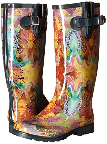 Autumn Puddles De Rain US 's Paisley Papillions Women M Boot Indian Iii Nomad 9 OEBR6nqR