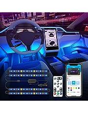 Govee Car LED Lights, Car Interior Lights Upgrade 2 Line Design Waterproof 4pcs 48 LED Lighting Kits, LED Car Lights with APP & Remote Control, Music Sync LED Lights for Car, DC 12V