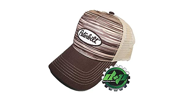 646b45ca785 Amazon.com   Peterbilt Trucks Wood Grain Mesh Hat Base Ball Trucker Cap  Diesel Gear semi PB   Sports   Outdoors