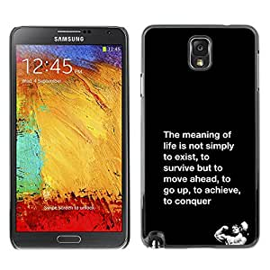 Planetar® ( Meaning Of Life Conquer Fight Exercise ) SAMSUNG Galaxy Note 3 III / N9000 / N9005 Fundas Cover Cubre Hard Case Cover