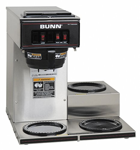 BUNN 13300.0003 VP17-3SS3L Pourover Commercial Coffee Brewer with Three Lower Warmers, Stainless Steel by BUNN