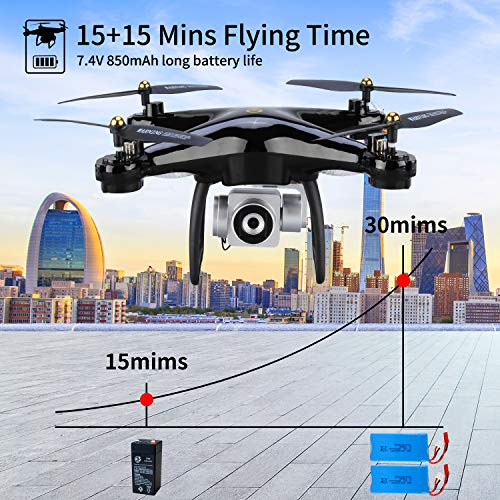 JJRC H68G GPS Return Home Drone Drone with 720P HD Camera Live Video 120° Wide-Angle 5G WiFi RC Drone Quadcopter with 980ft Control Distances, Follow Me, Altitude Hold Headless Mode Helicopter (Black) by JJRC (Image #4)