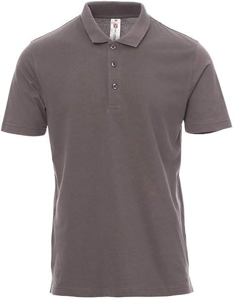 Payper Rome - Polo unisex para hombre y mujer, de manga corta, 100% algodón con efecto perlado, laterales gris ahumado: Amazon.es: Ropa y accesorios