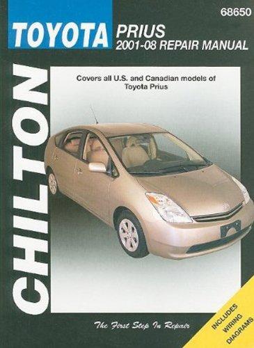 amazon com toyota prius chilton manual 2001 2008 automotive rh amazon com 2007 Toyota Prius 2009 Toyota Prius