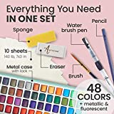 ARTISTRO Watercolor Paint Set, 48 Vivid Colors in