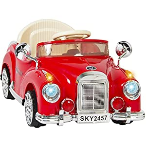 Best-Choice-Products-Electric-Battery-Power-Wheels-RC-Classic-Car-Ride-On-Red