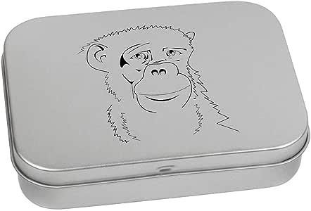 110mm 'Chimpanzee' Metal Hinged Tin / Storage Box (TT00131407)