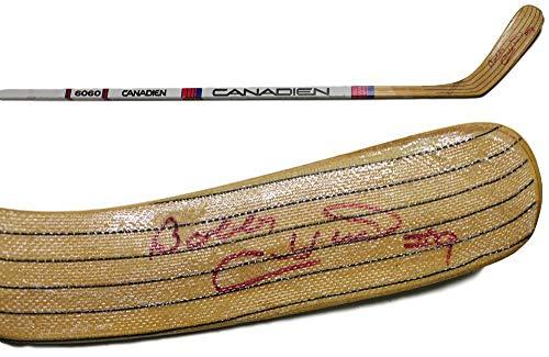 Bobby Hull Autographed/Signed Chicago Blackhawks Canadien Hockey Stick JSA
