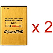 2 pcs/lot PowerFull BL-53YH 3500 mAh Premium Quality High Capacity Battery Replacement For LG G3 VS985