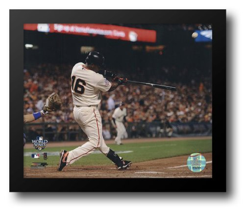 Edgar Renteria Game Two of the 2010 World Series Home Run Action 12x14 Framed Art -
