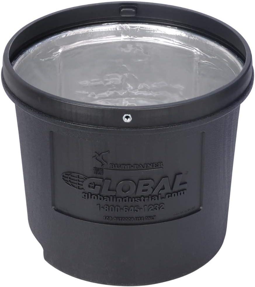 5 Gallon Global Industrial Black Outdoor Ashtray
