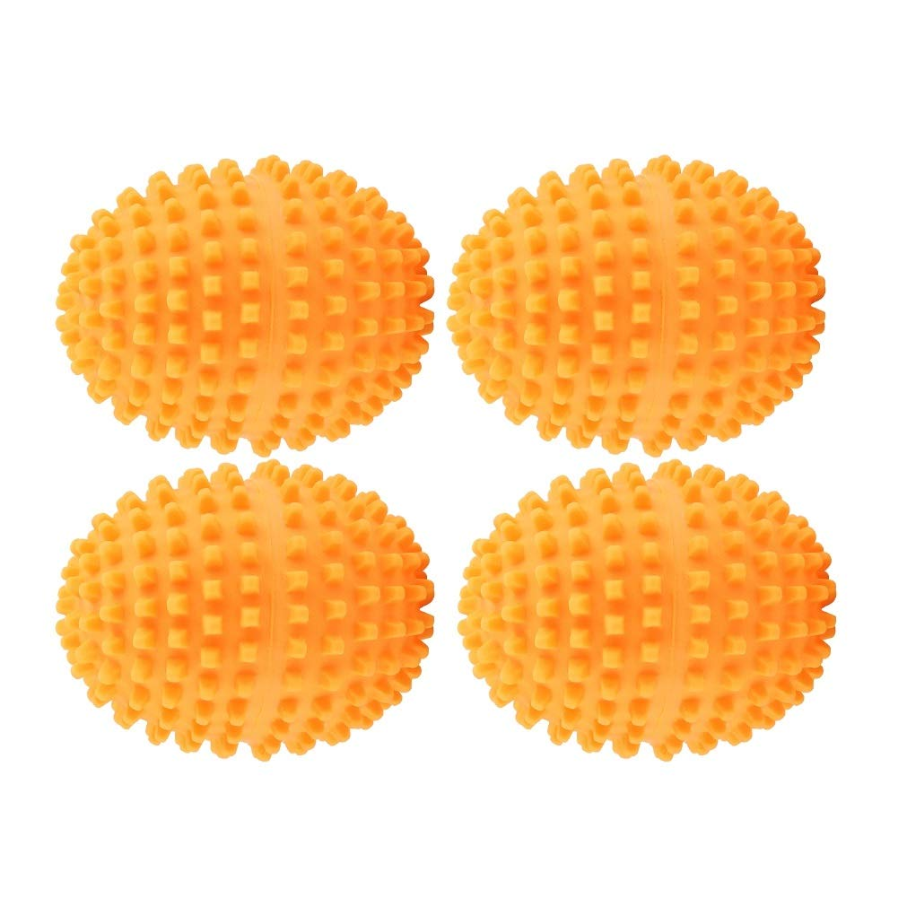Dry Balls Laundry - Delaman Orange Reusable Dryer Balls, Washing Laundry Drying Ball, Set of 4, for Home Clothes Cleaning