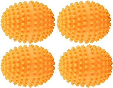 Dewin Bolas de Secado Reutilizables - Bolas secadoras para Limpieza de Ropa en el hogar, Lavado y Secado de Ropa, 4 Piezas/Juego, Naranja