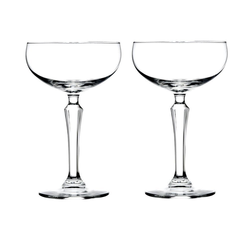 Libbey Speakeasy Coupe Glass 7 oz - 2 Pack w/ Pourer 601602