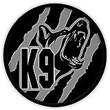 Patch patch k9–noir/gris hundestaffel police armée berger allemand chien camouflage uniform drogenhund dSH utilisation#16885