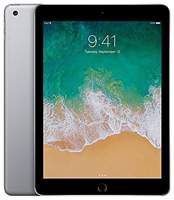 Apple iPad (5th Generation) Wi-Fi, 128GB - Space Gray (Certified Refurbished)