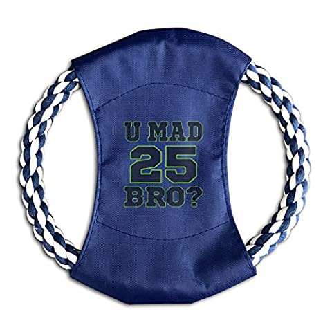 Dogs U Mad Bro Cool Fashion Reusable Throw Disc Colorful Cotton Rope Canvas Safe Bite Puppy Frisbee - Seattle Seahawks Disc