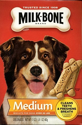 Medium Dog Biscuits (Milk-Bone 3 Pack Medium Biscuits For Dogs Over 20 Lbs, 24 Ounce Box (17 ounce))