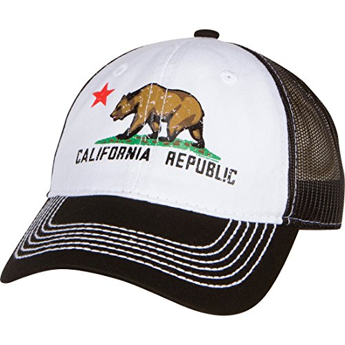 Dolphin Shirt Co California Republic Screen Print Trucker Hat - Black 9b1887de42db