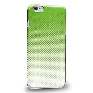 """Case88 Premium Designs Art Lime Halftones Half Tones Carcasa/Funda dura para el Apple iPhone 6 Plus 5.5"""""""