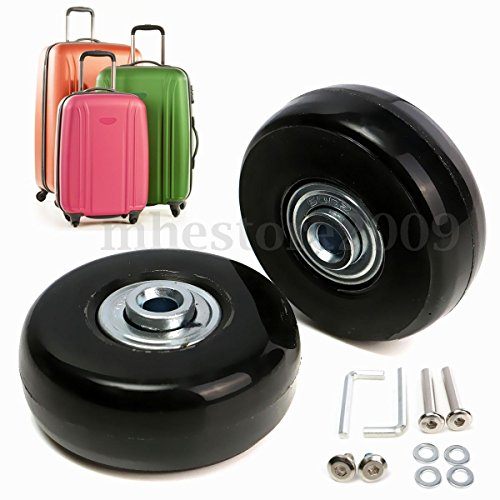 OD. 50 mm Wide 18 mm Axle 30 mm Luggage Suitcase/Inline Outdoor Skate Replacement Wheels with ABEC 608zz Bearings (Hub In Line Skate Wheels)