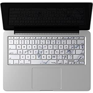 "Kuzy - Keyboard Cover for Older MacBook Pro 13"" 15"" 17"" (with or w/out Retina Display) iMac and MacBook Air 13"" Silicone Skin - Marble"