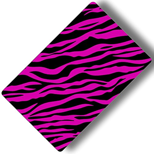 Custom & Decorative {16'' x 10'' Inch} 1 Single, Large ''Gaming'' Flexible Non-Slip Mousepad for Gaming, Made Of Easy-Glide Neoprene w/ Neon Cartoon Zebra Animal Print Girly [Pink & Black] by mySimple Products