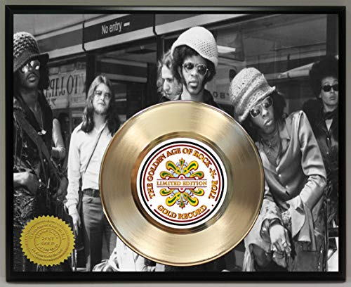 G.A.R.R. Sly and The Family Stone Gold Record Poster Art Limited Edition Commemorative Music Memorabilia Display - Gold Family Stone