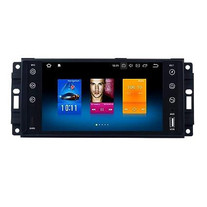 Dasaita doble 2 DIN Android 8.0 Auto Radio para Jeep Chrysler Dodge GPS Sat Navhead Unidad