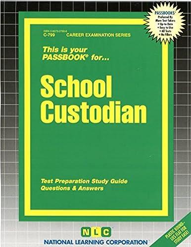 school custodian passbooks career examination series c 799 rh amazon com Sat Study Guide Police Exam Study Guide