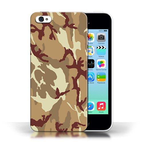 iCHOOSE Print Motif Coque de protection Case / Plastique manchon de telephone Coque pour Apple iPhone 5C / Collection Armée/Marine militaire/Camouflage / Marron 4