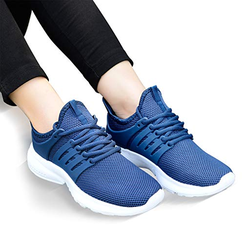 Lightweight Blue Feetmat Mesh Running Shoes Sneakers Casual Shoes Walking Fashion Womens White Breathable USWUnaY