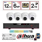Dahua OEM Penta-brid 1080P Security Package: 8CH 1080P Penta-brid XVR5108 5 in 1 (CVI TVI AHD IP and Analog) w/2TB Security Hard Drive+(4) 2MP Outdoor IR HDW1200 3.6MM Eyeball (NO LOGO Local Support)