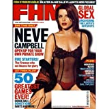 FHM Magazine January 2004 Neve Campbell Cover and Sexy Mercedes Mcnab Harmony on Buffy the Vampire Slayer and Angel Photo Pictorial