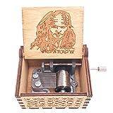 Jack Sparrow Music Box Hand Crank Musical Box
