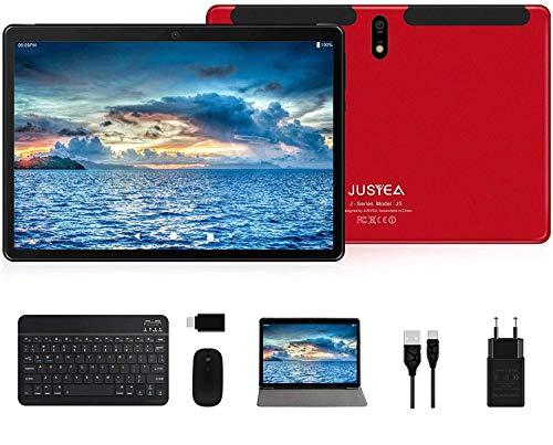 JUSYEA Tablet, 10,1 inch (25,6 cm), Android 10.0, zeer draagbaar, RAM 4 GB, 64 GB uitbreidbaar (Google GMS), JUSYEA…