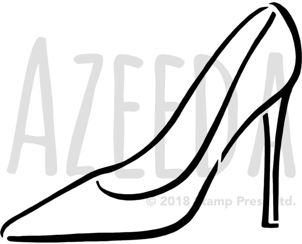Template WS00040379 Azeeda Large A2 Stiletto Shoe Wall Stencil