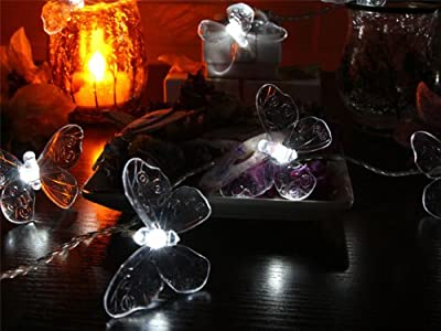 Battery Operated LED String Lights with Butterfly, Christmas Lights, Party Lights