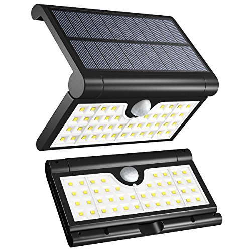 Vmanoo Solar Lights Outdoor, 42 LED Foldable Super Bright Wireless Motion Sensor Outdoor Spotlight Lighting with 3 Modes for Garden, Patio, Patio, Wall and Pathway 2Pack
