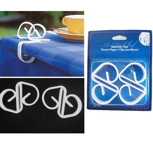 4 Tablecloth Clips Plastic Table Cloth Clamps Cover Skirt...