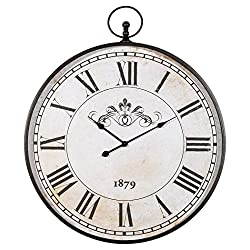 Ashley Furniture Signature Design - Augustina Wall Clock - Traditional - Antique Black