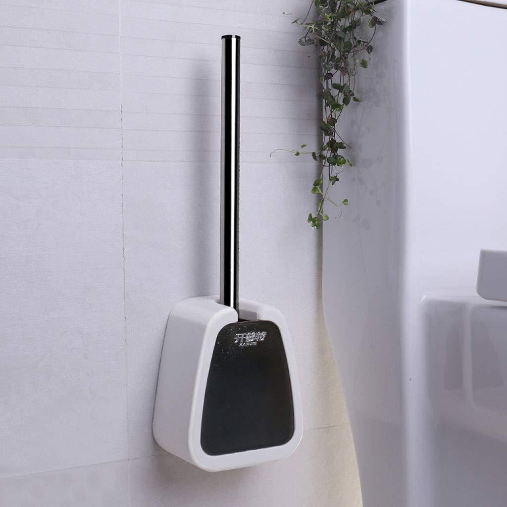 Farbe : Gray, größe : 13x8.5x16cm Reinigungsbürste mit langem Griff aus Edelstahl für den Haushalt Haushaltsdurchschlagfreie Wand-WC-Bürstengarnitur Unbekannt FRF Klobürste