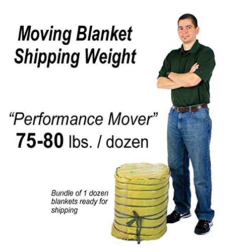 Moving Blanket (12-Pack) 72'' X 80'' US Cargo Control - Performance Mover (75 Lbs/Dozen, Black/White, Cotton/Poly Blend) by US Cargo Control (Image #4)