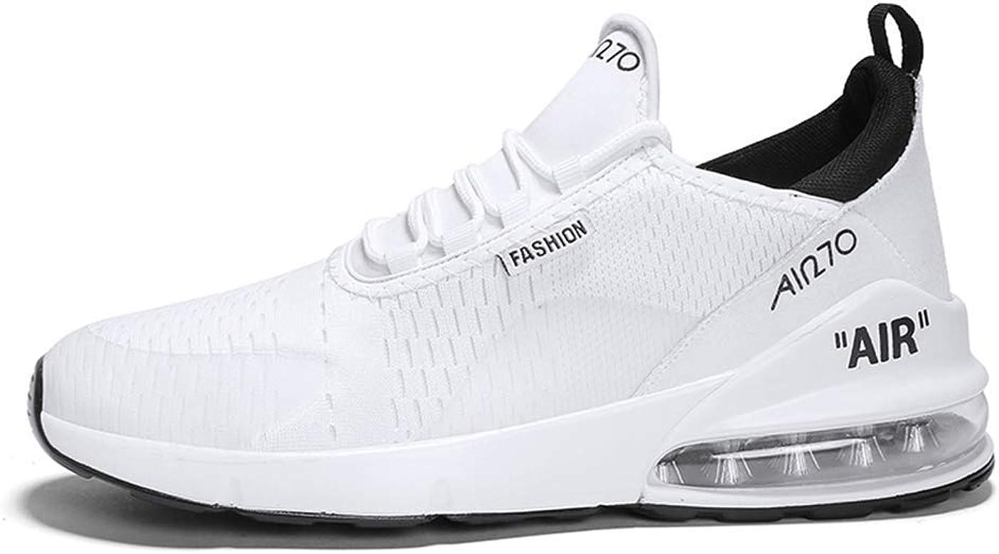 Fashion Shoebox - Zapatillas Deportivas para Mujer (Acolchadas, Ligeras, para Correr, Tenis), Blanco (Blanco), 43 EU: Amazon.es: Zapatos y complementos