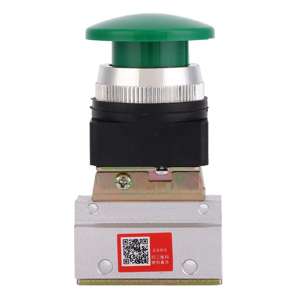 Pneumatic Mechanical Valve 2 Position 3 Way G1//8 Pneumatic Mechanical Valve Push Button Switch MOV-03A