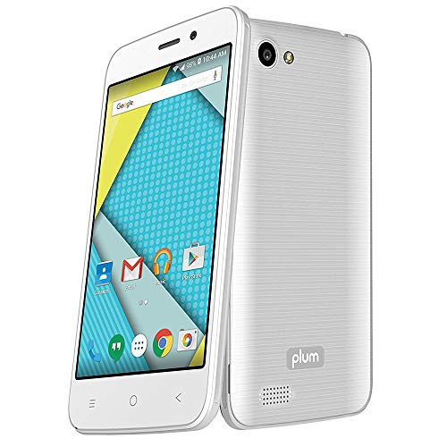 "Plum Axe 4G Factory Unlocked Phone - 4"" Screen - 8GB - White (U.S. Warranty)"