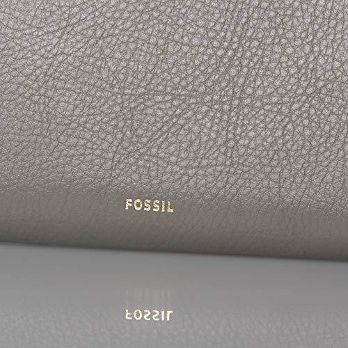 Fossil Women's Logan Leather RFID-Blocking Zip Around Clutch Wallet with Wristlet Strap 4