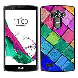 // PHONE CASE GIFT // Duro Estuche protector PC Cáscara Plástico Carcasa Funda Hard Protective Case for LG G4 / Crayons Neon Colors Art Drawing Purple Pink /